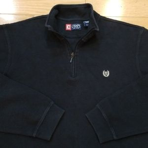 Chaps Navy Blue Sweater Large
